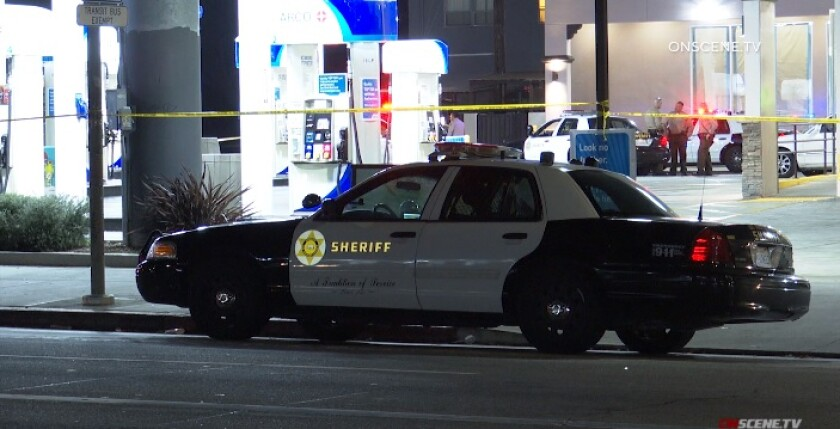 About 6:30 p.m. a Los Angeles County sheriff's cruiser struck an unknown female in Lynwood.