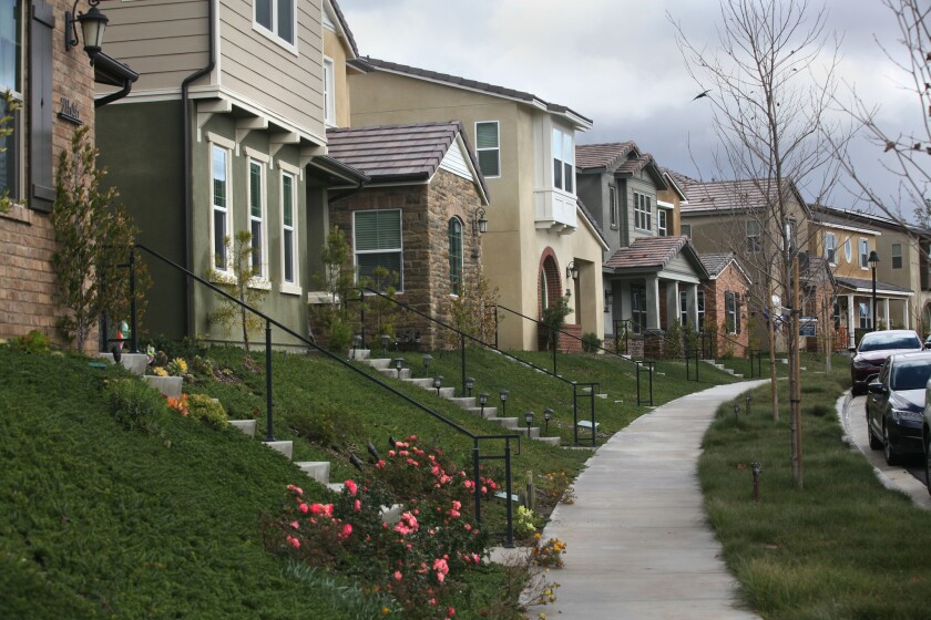 New housing development in the rural pocket of Elfin Forest/Harmony Grove between San Marcos and Escondido.