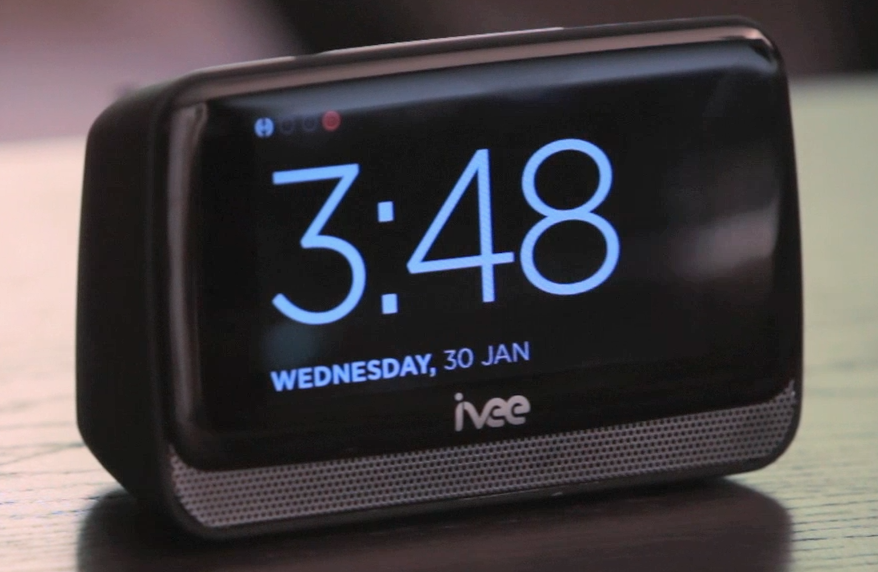 It looks like a regular alarm clock, but it¿s actually a hands-free voice-activated assistant.