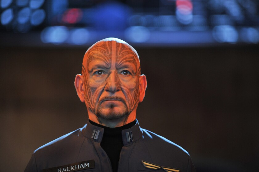 "Ben Kingsley plays Mazer Rackham in ""Ender's Game."""