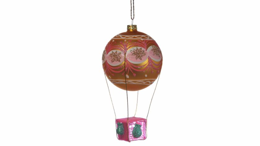 "LOS ANGELES, CA., NOVEMBER 17, 2017--Christmas Ornaments for 2017- HOT AIR BALLOON - ""The Wizard of"