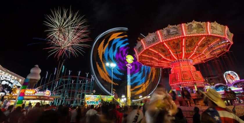 The 2019 San Diego County Fair will have Independence Day fireworks 9 p.m. Thursday, July 4.