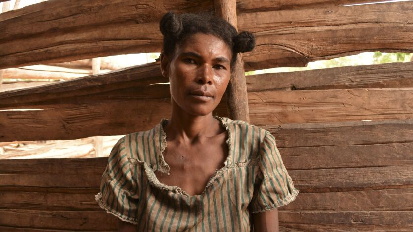 Valopee, a woman from southern Madagascar, believes it is time to change a cultural tradition which