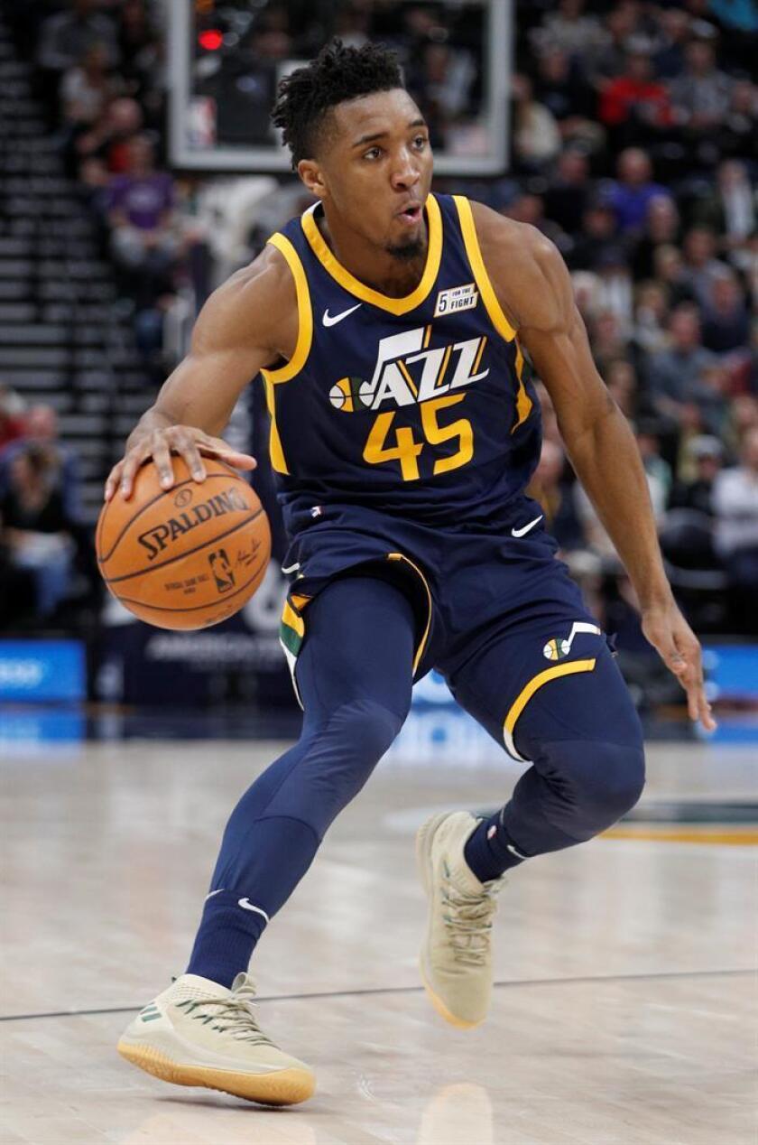 El escolta de Utah Jazz Donovan Mitchell. EFE/Archivo