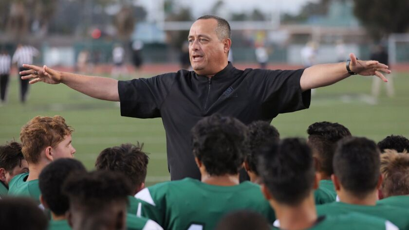 Oceanside coach David Rodriguez (shown in an earlier game) praised his team's defense after the Pirates' win over Eastlake.