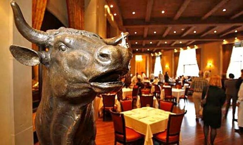 AROUND THE PALAZZO: The recently opened Palazzo Resort-Hotel-Casino in Las Vegas is the hub of a new wave of notable restaurants. The trend: fewer gimmicks, higher prices. Diners at Mario Batali's Carnevino steakhouse are greeted by a bronze bull.