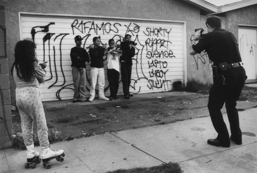 Gang members posing for photos