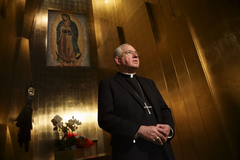 Los Angeles Archbishop José H. Gomez at the Cathedral of Our Lady of the Angels.