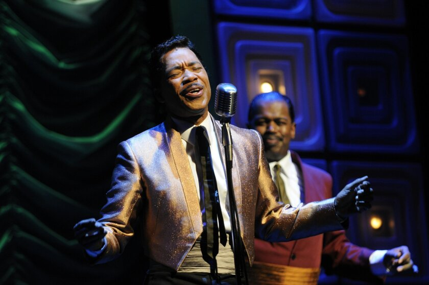 "Tony nominee Obba Babatundé stars in ""Sammy,"" Leslie Bricusse's musical based on the life of Sammy Davis Jr. at The Old Globe Theatre. (David Brooks / Union-Tribune)"