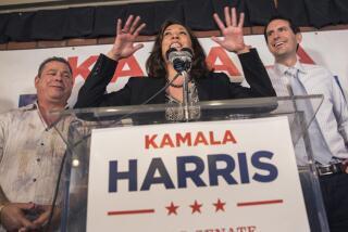 Senate candidate Kamala Harris pushing to help down-ballot Democrats