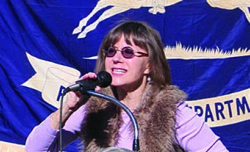 Save Our La Jolla Post Office Task Force member Diane Kane.