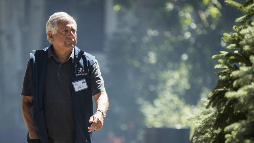 Former CBS Chief Executive Leslie Moonves, president and chief executive officer of CBS Corporation, in July in Idaho.