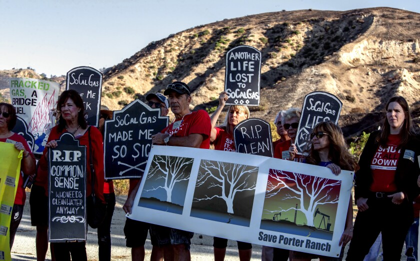 Aliso Canyon protest
