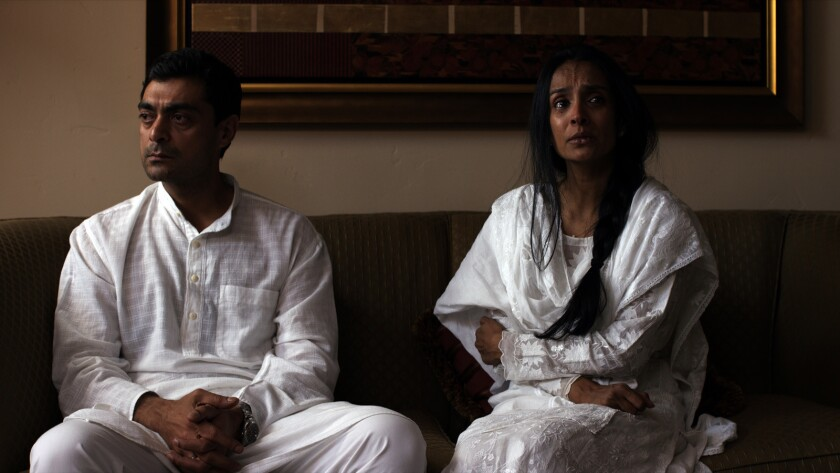 """Alyy Khan, left, and Suchitra Pillai in the movie """"The Valley."""""""