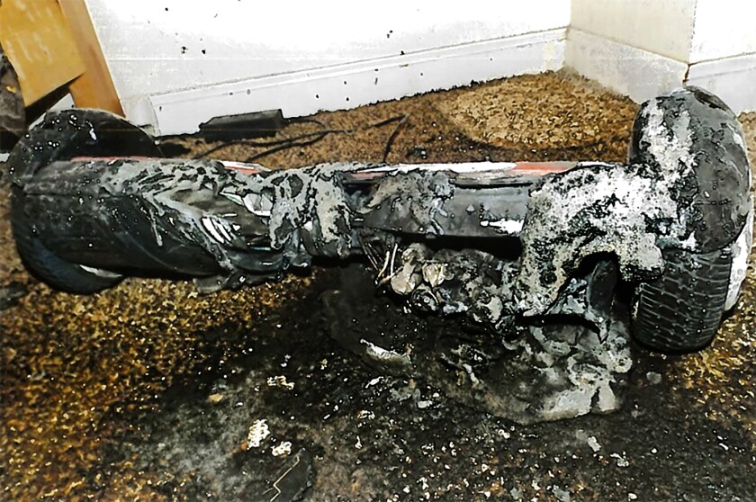 "A toy hoverboard that ""severely burned"" a California woman"