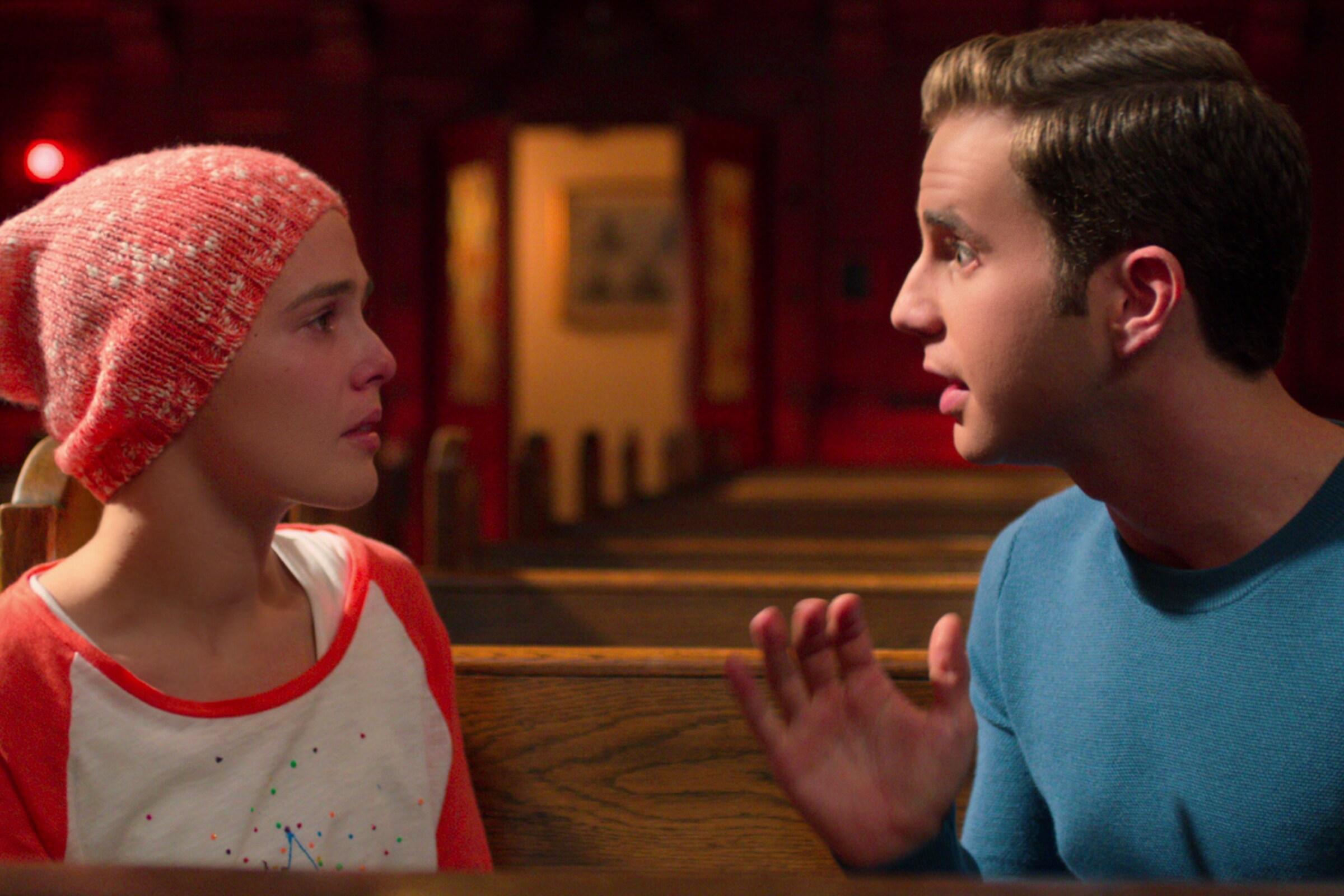 "Zoey Deutch and Ben Platt in a scene from Netflix's ""The Politician."""