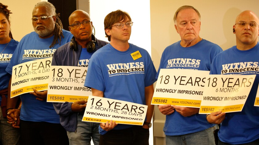 Exonerees show their support for Calif. Proposition 62