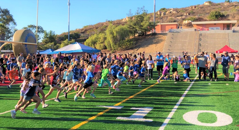 The San Diego North Rotary Club recently held its 32nd annual Rotary Fun Run at the Mt. Carmel High School stadium for runners in grades 3-8.