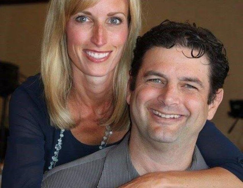 Paul Gaspar has pulled papers to run for mayor of Encinitas, a position currently held by his wife Kristin Gaspar, left.