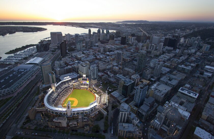 PETCO Park from the air.