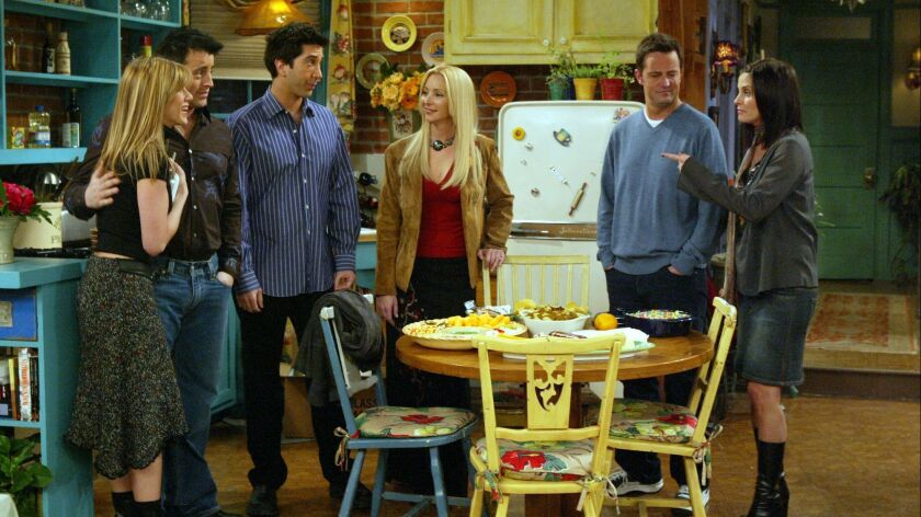 """@@*@@* ADVANCE FOR WEDNESDAY, MAY 5 @@*@@* The cast of NBC's """"Friends"""" appears in this scene in this"""