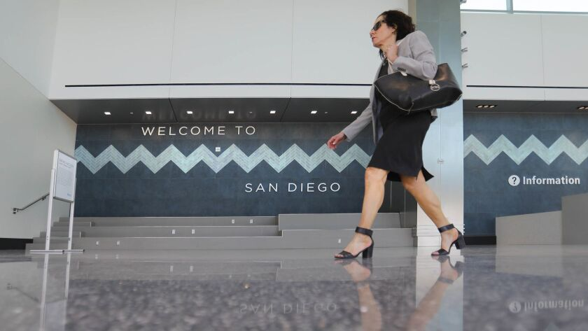 SAN DIEGO, CA 6/28/2018: The new International Arrivals facility, part of Terminal 2 West at San Die