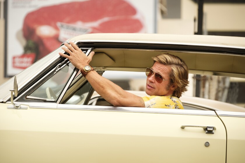 "Brad Pitt stars in ""Once Upon a Time... in Hollywood."""