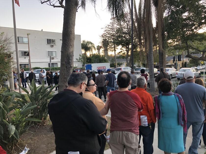 The line to vote at the El Sereno Senior Center