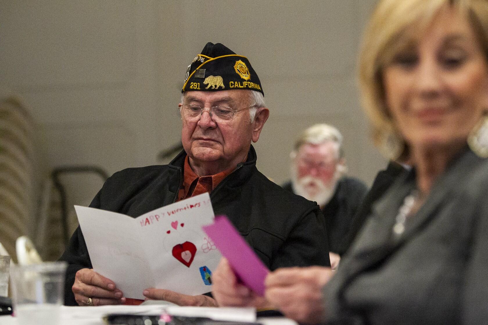 Vets get Valentine's love from community at Newport American Legion post