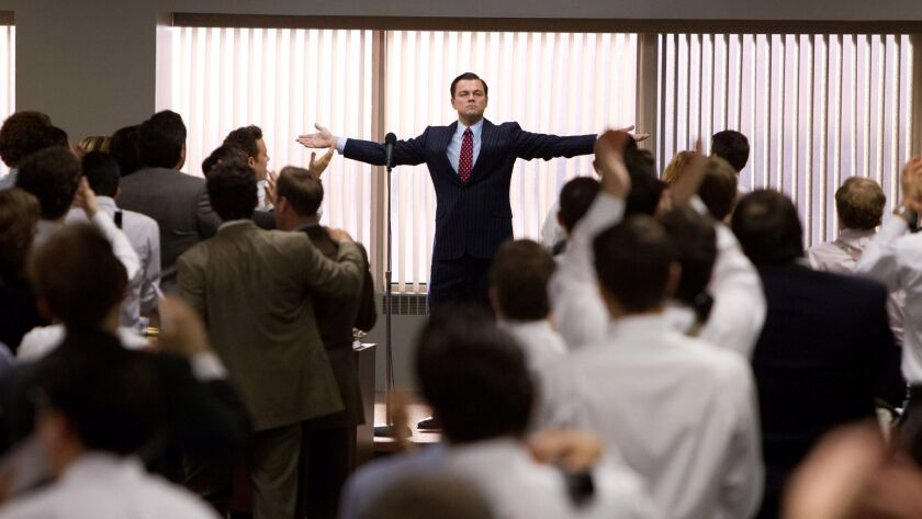 "Leonardo DiCaprio appears in a scene from the 2013 movie ""The Wolf of Wall Street."""