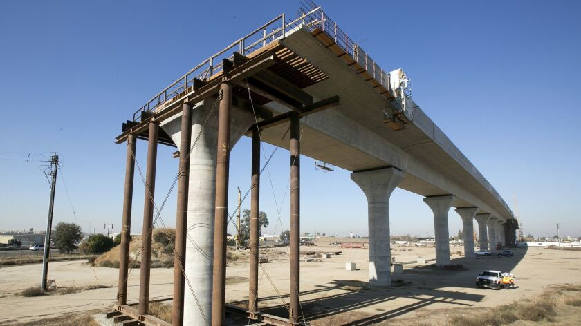 FILE - This Dec. 6, 2017, file photo shows one of the elevated sections of the high-speed rail under