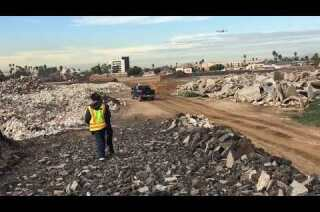On the site of the Rams' future stadium complex