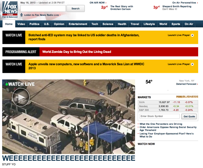 Fox News website