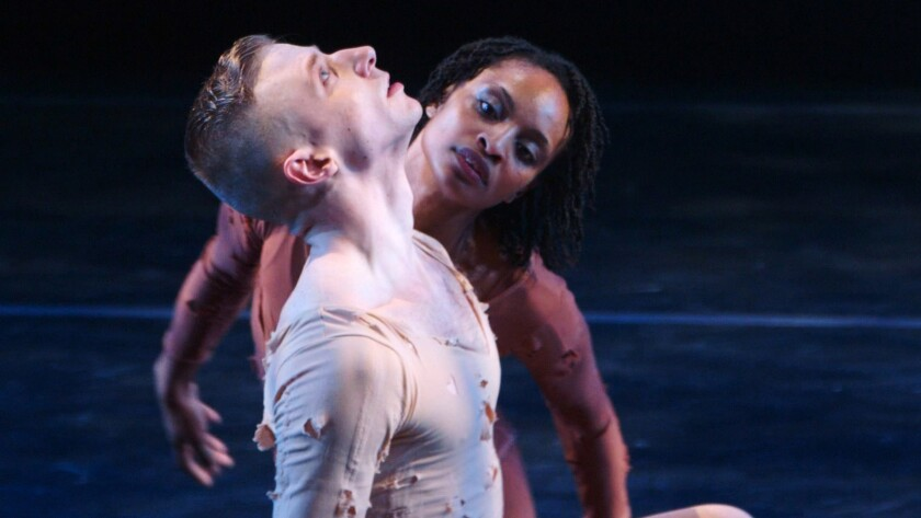 "(L-R)- Nicholas Sciscione and Davalois Fearon in ""IF THE DANCER DANCES."" Credit: Monument Releasing"