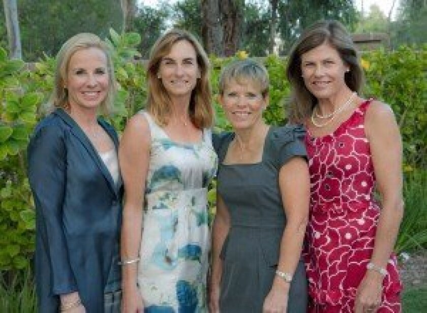 Scripps Encinitas Gala Co-Chairs (L-R) Catherine Nicholas, Joanne Marks, Franci Free and Mary Miller. Photo courtesy of Scripps Health.