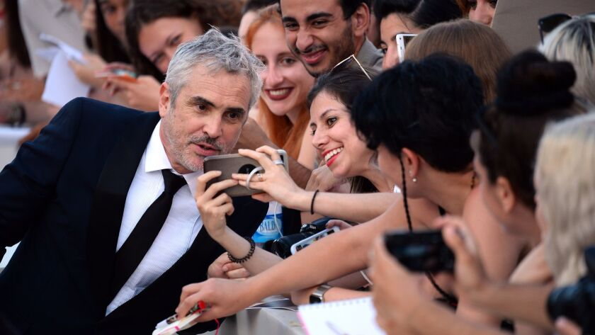 "Alfonso Cuarón at Venice Film Festival with his new film for Netflix, ""Roma."""