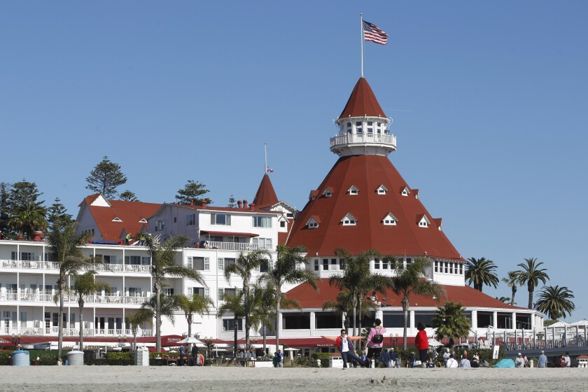 Coronado's registered voters through an Internet portal would be able to comment or vote on issues facing the city such as whether they support building more housing or a ban on gas-powered leaf blowers. The tech company behind the portal hasn't formally approached Coronado yet. The Hotel del Coronado, above, is an icon of the city.