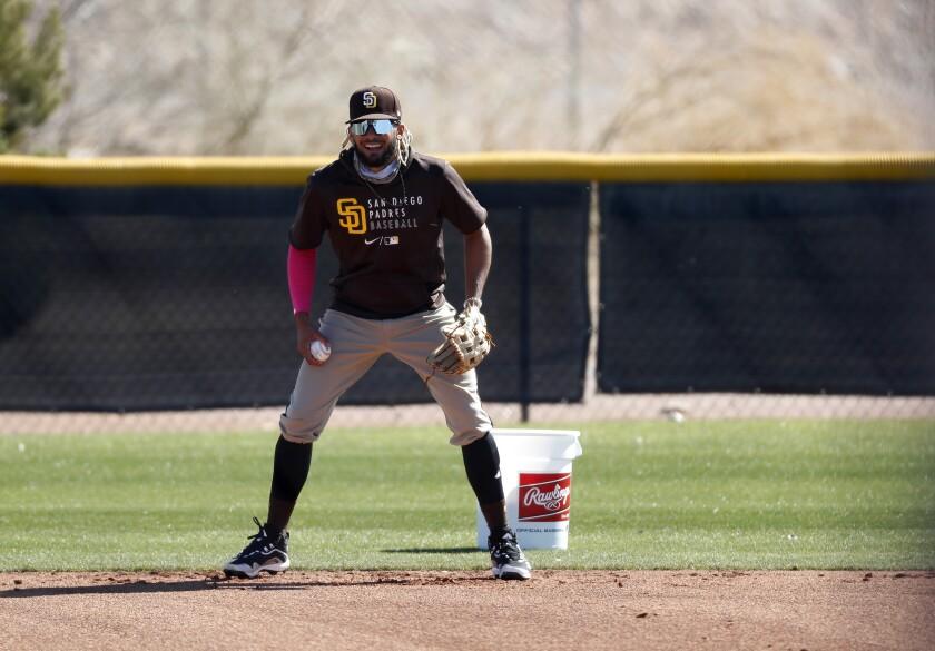 PEORIA, AZ - FEBRUARY 22: San Diego Padres shortstop Fernando Tatis Jr.