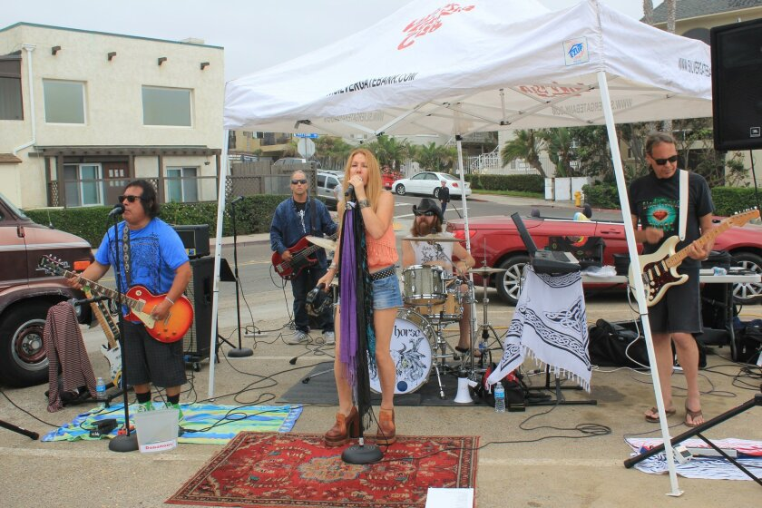 Local rock band Stone Horse played at the event.