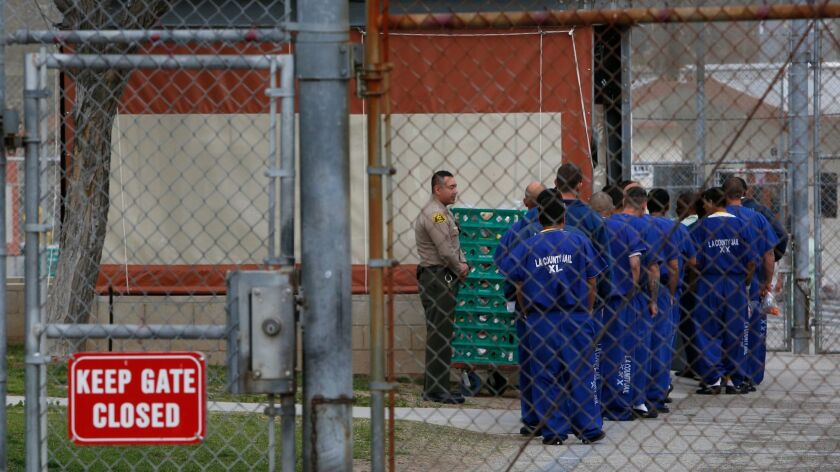 Detainees at Pitchess Detention Center in Castaic in March of 2015