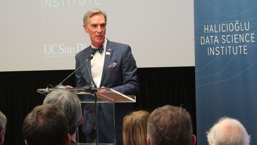 BILL NYE VISITS LA JOLLA: 'Science Guy' helps dedicate UCSD data