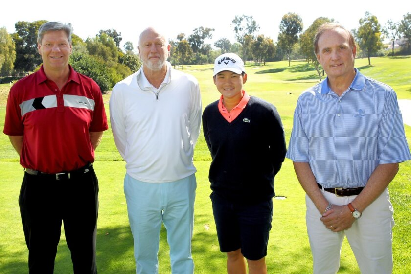 Scott Johnson, Dave Scherer, Yani Tseng, John Snyder Photo by Jon Clark