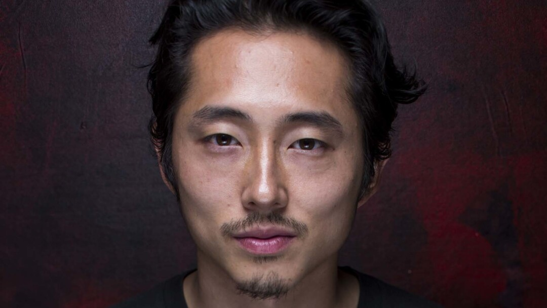 """Steven Yeun of """"The Walking Dead"""" is photographed at the L.A. Times Hero Complex photo studio at Comic-Con 2015"""