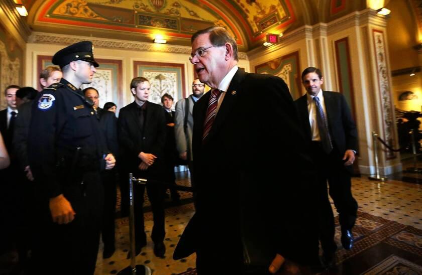 Sen. Robert Menendez (D-N.J.), a leader in efforts to overhaul immigration laws, has denied any wrongdoing.