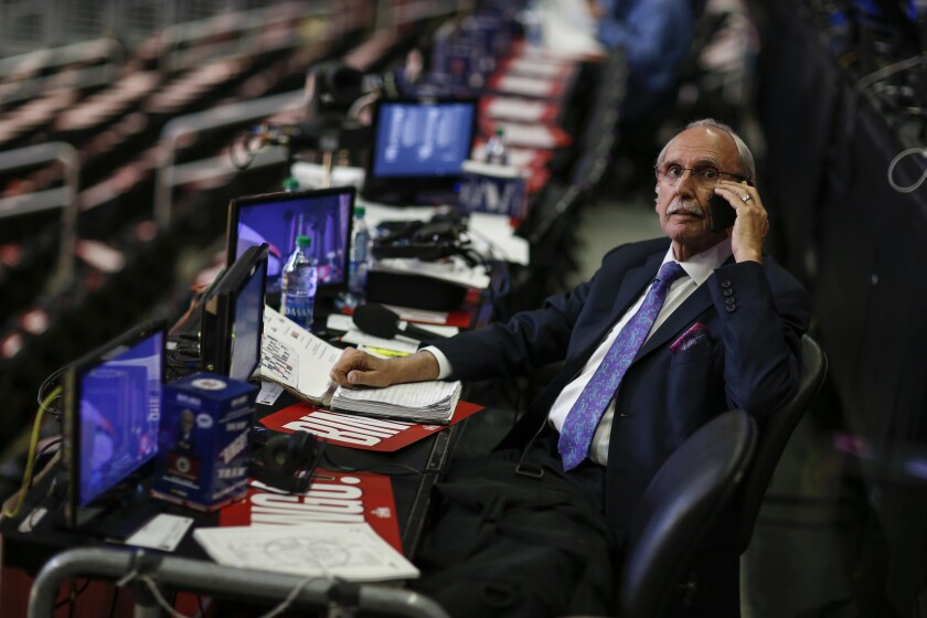 Former Clippers broadcaster Ralph Lawler.