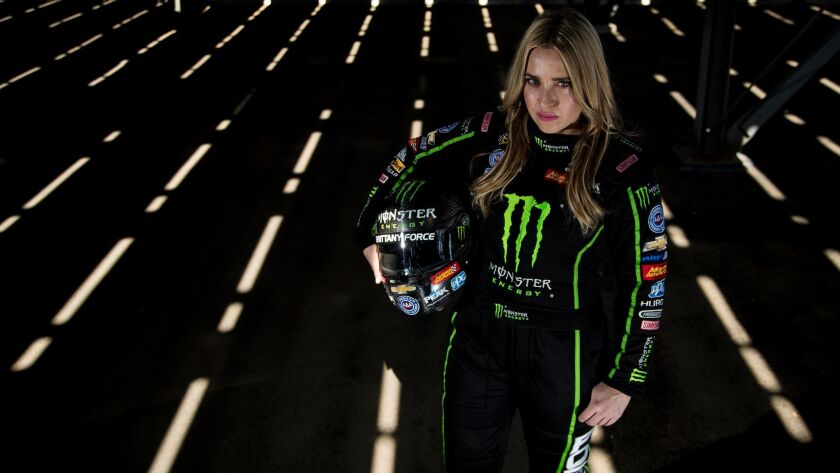 POMONA, CA - FEBRUARY 7, 2018: Brittany Force of Yorba Linda will be competing in the Winter Nation