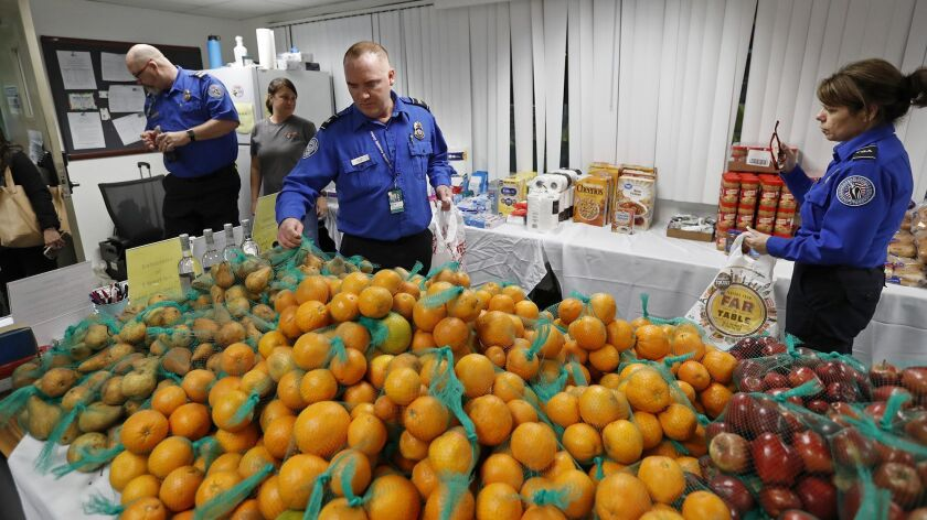 Second Harvest Food Bank Orange County hosts a temporary food pantry for TSA and federal employees a