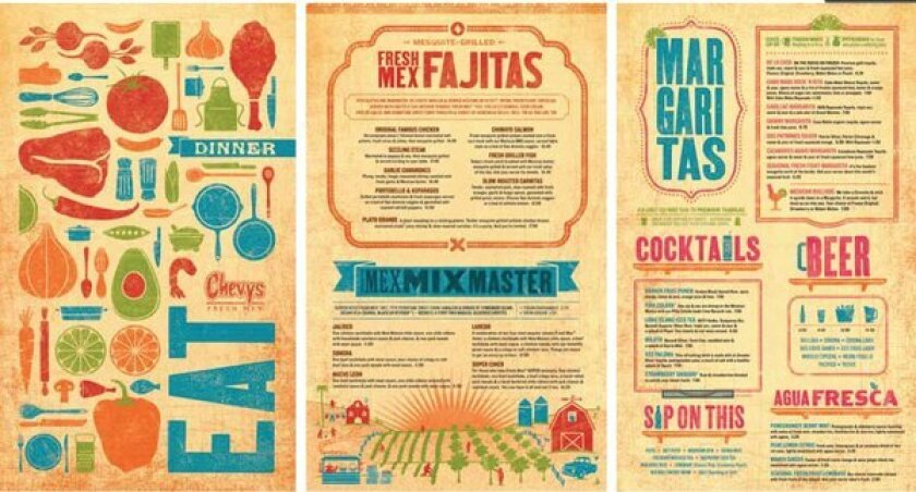 Chevys new menu, which the chain updated after its parent company emerged from bankruptcy.