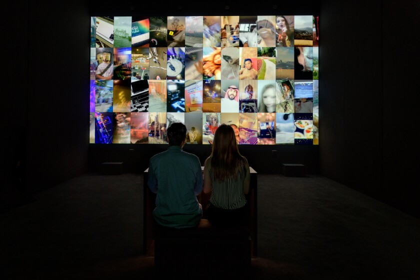 "Installation view of ""The Organ,"" 2018, as seen in ""Christian Marclay, Sound Stories"" at the Los Angeles County Museum of Art."
