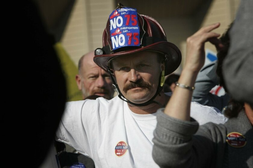 Former firefighters union president Frank De Clercq. [Union-Tribune file]